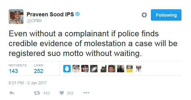 praveen-sood - Bangalore police commissioner on Bangalore NYE Molestation