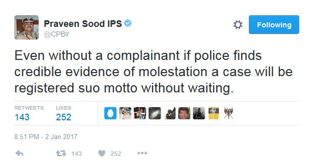 praveen-sood - Bangalore police commissioner on Bangalore NYE Molestation