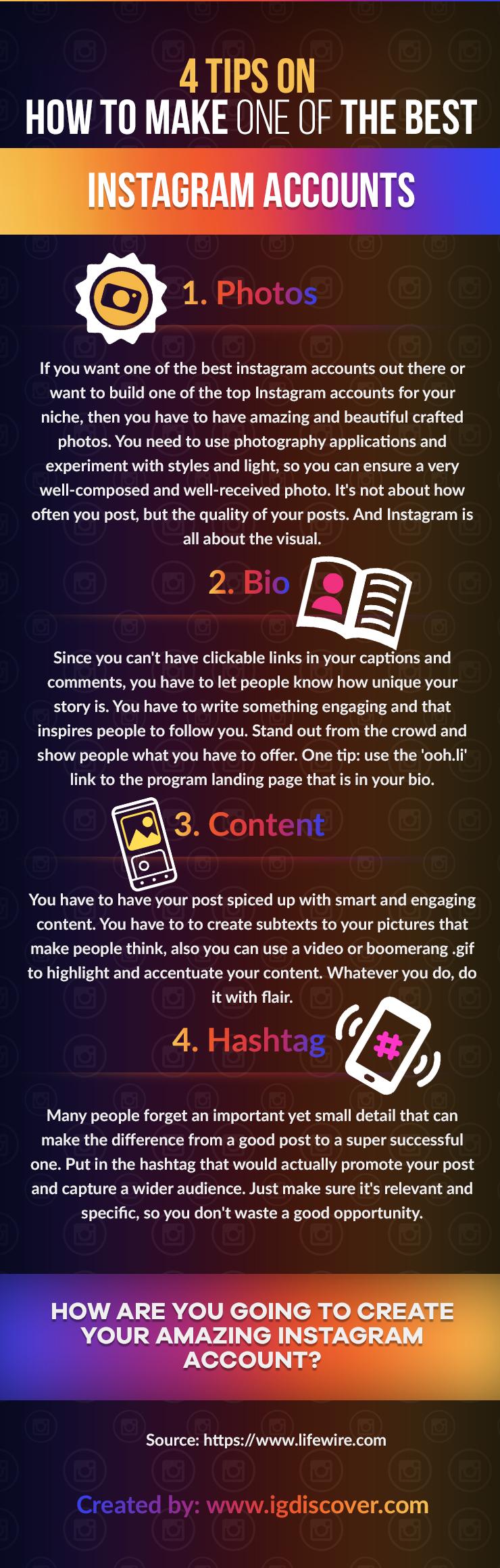 4 Tips on Best Instagram account