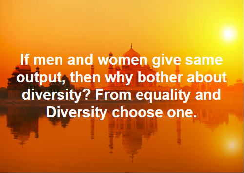 Equality Vs Diversity