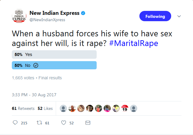 Indian Express Poll on Marital Rape