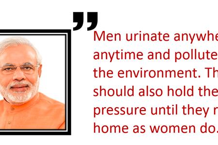 Narendra Modi on Men urinating in public