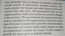 Childcare and Girl's education