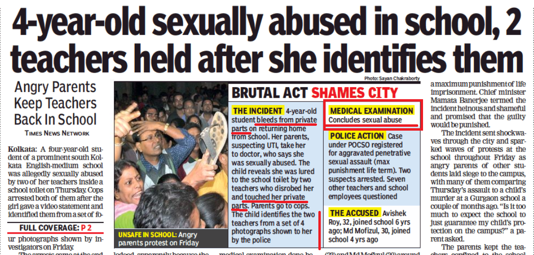 Child Sexual Abuse, Sexual Assault of Child, POCSO