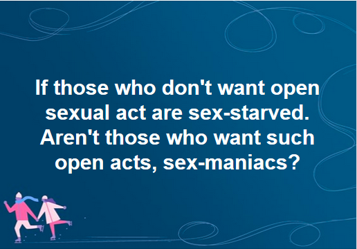 Sex-Starved and Sex-Maniacs