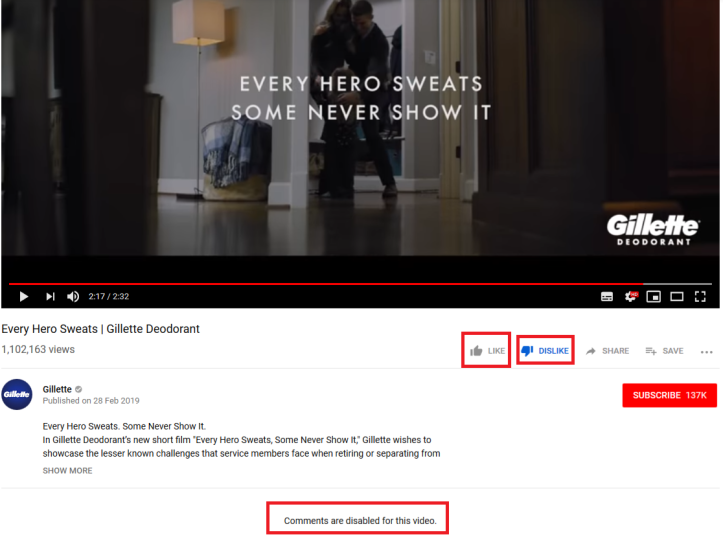 gillette-ad-bans-comments-dislike-count