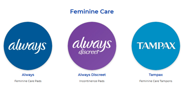 p&g-feminine-care-brands