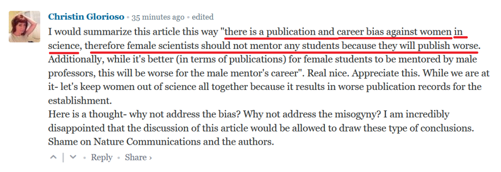 STEM Research - Publication and Career Bias