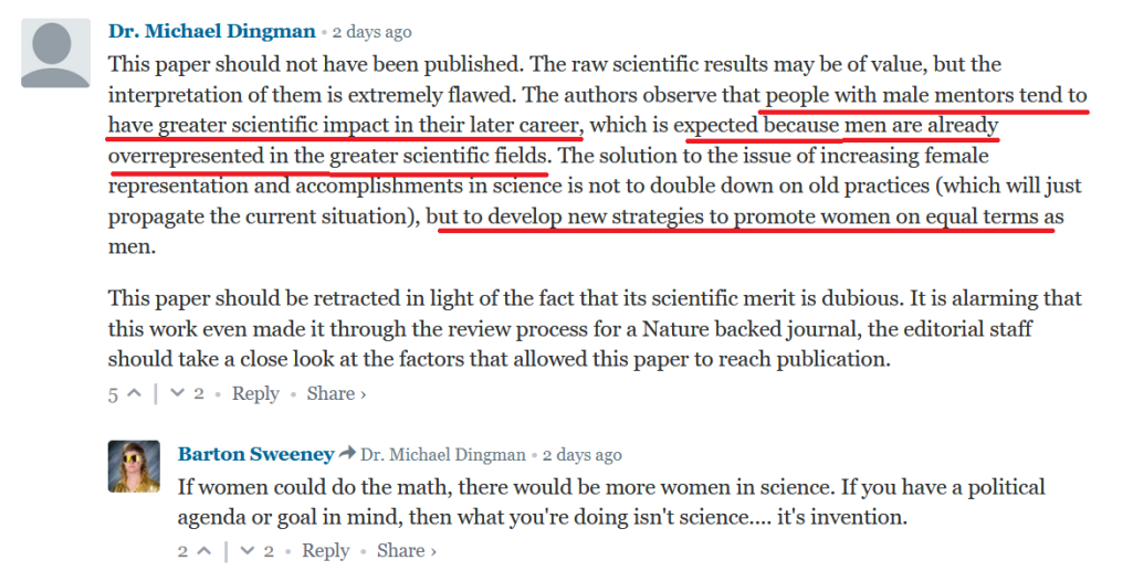 Promotion of equality and inclusivity in science a mere political propaganda