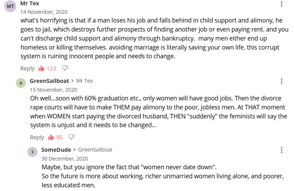 Alimony burden on jobless men